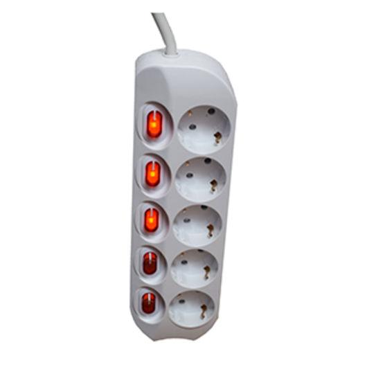 Regleta 5 enchufes con interruptor individual regletas - Enchufes con interruptor ...